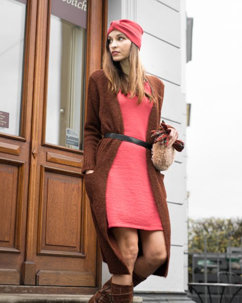 Cotwoll Dress cramberry L