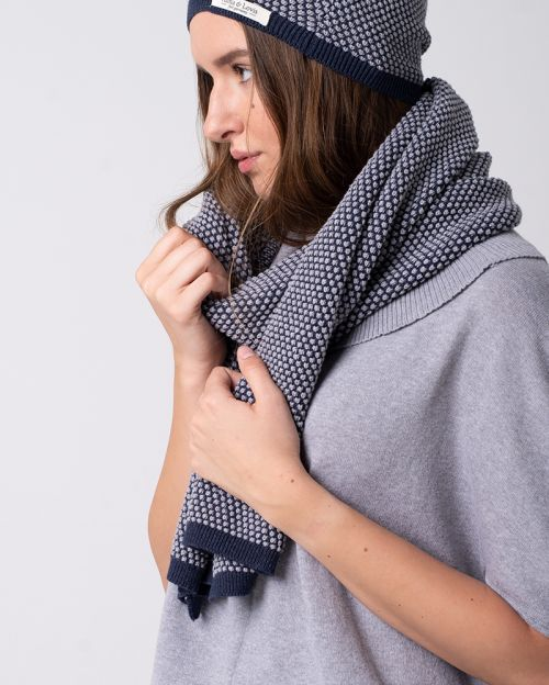 Cotton Knit Scarf